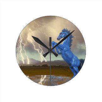 Share Favorite DIA Mustang Bronco Lightning Stor Round Clock
