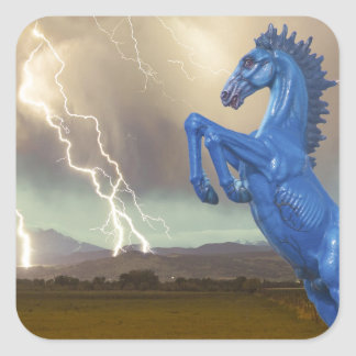 Share Favorite DIA Mustang Bronco Lightning Stor Square Stickers