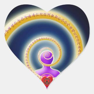 Share Inner Peace of Nembutsu Heart Sticker