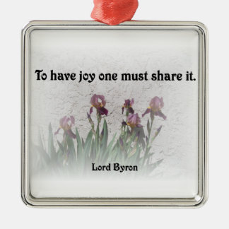 Share Joy Metal Ornament