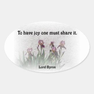 Share Joy Oval Sticker