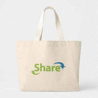 Share- Jumbo Tote Tote Bag