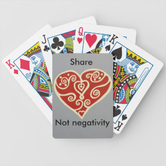 share Love 2 Bicycle Playing Cards