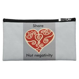 share Love 2 cosmetic bags featuring the artwork .