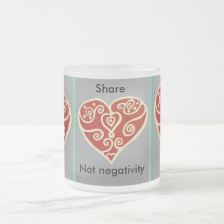 Share Love 2 Frosted Glass Coffee Mug