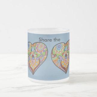 Share Love Frosted Glass Coffee Mug