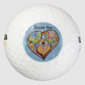 Share Love Golf Balls