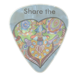 Share Love Pearl Celluloid Guitar Pick