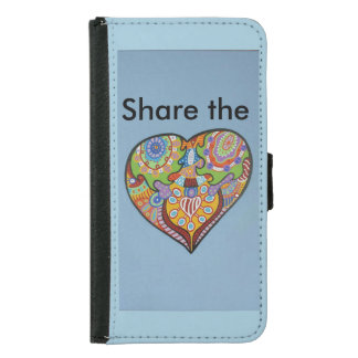 Share Love Wallet Phone Case For Samsung Galaxy S5