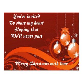 Share my heart at Cristmas Custom Invite