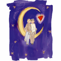 Share Our Joy Grooms on Moon Cutout
