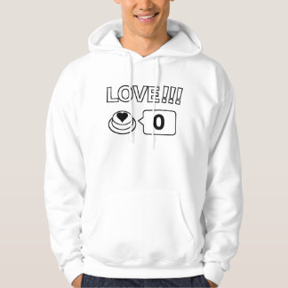 Share/Social Button: Love!!! Hoodie