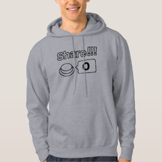 Share/Social Button: Share!!! 0 Hoodie
