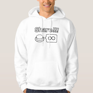 Share/Social Button: Share!!! Hoodie