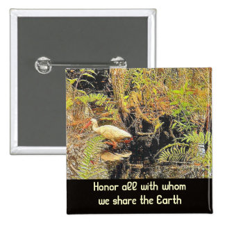 share the earth pinback button