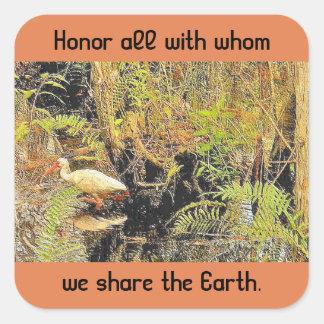 share the earth square sticker