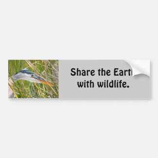 Share the Earth with Wildlife Bumper Sticker