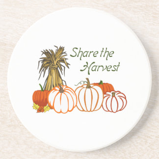SHARE THE HARVEST APPLIQUES DRINK COASTERS