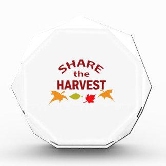 SHARE THE HARVEST ACRYLIC AWARD