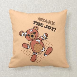 Share the Joy Broken Bear Doll Pillow