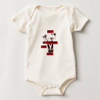 Share the love a glass of valentine peace.jpg baby bodysuit