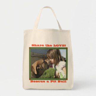 Share the LOVE! and Rescue a Pit Bull Tote Bag