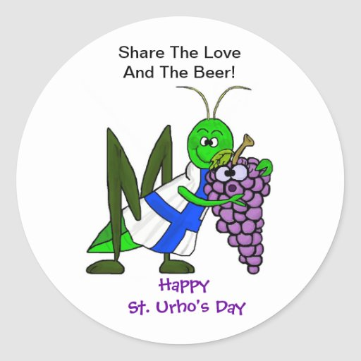 Share the Love and The Beer Stickers - St. Urho