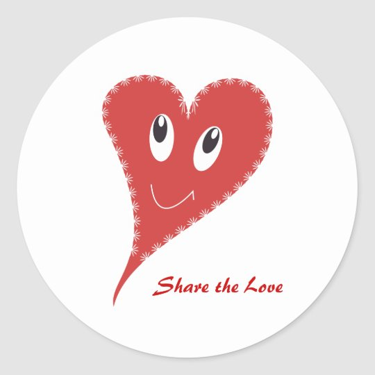 Share the Love Classic Round Sticker