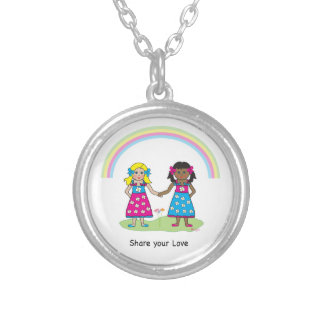 Share the Love - Equality for All Round Pendant Necklace