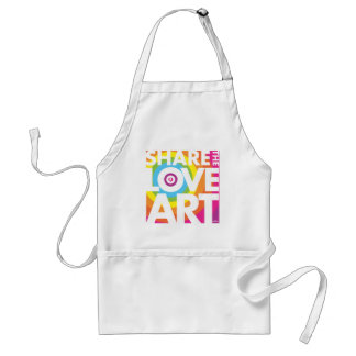 SHARE THE LOVE OF ART ADULT APRON