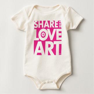 SHARE THE LOVE OF ART BABY BODYSUIT