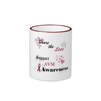 Share the Love Support AVM Awareness Ringer Mug