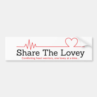 Share The Lovey bumper stcker Bumper Sticker