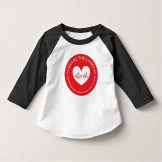 Share The Lovey Toddler Raglan Shirt Circle logo