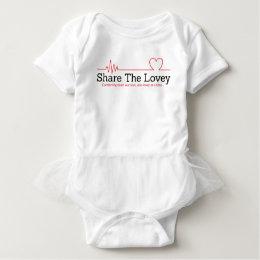 Share The Lovey tutu Baby Bodysuit