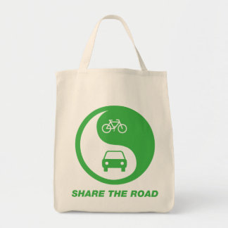 Share the Road Grocery Tote Bag