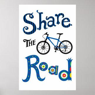 Share the Road - bike poster print