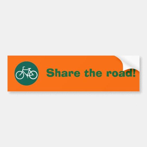 Share the road! bumper sticker