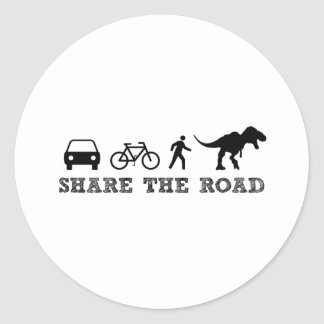 Share the Road Classic Round Sticker