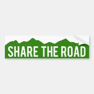 Share The Road Colorado Bumper Sticker