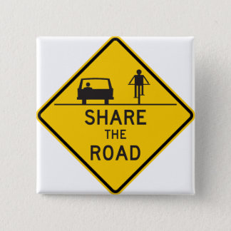 Share the Road Highway Sign Button