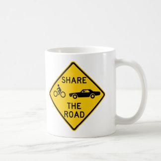 Share the Road Highway Sign Coffee Mug