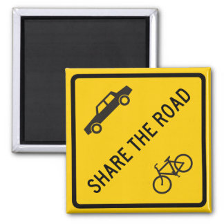 Share the Road Highway Sign Magnet