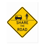 Share the Road Highway Sign Postcard