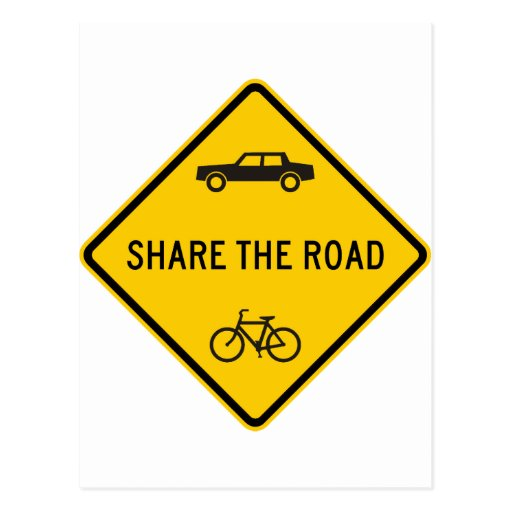 Share the Road Highway Sign Postcards