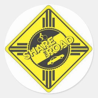share the road.JPG Classic Round Sticker