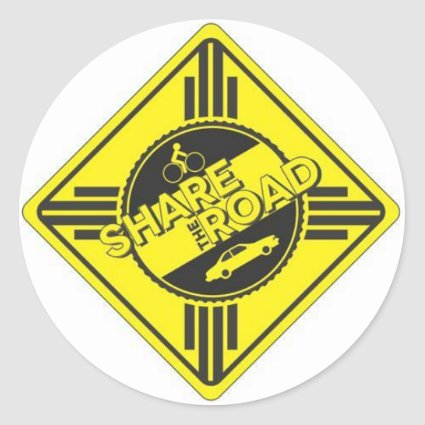 share the road.JPG Round Stickers