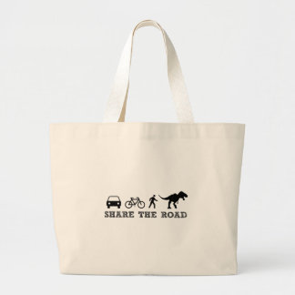 Share the Road Large Tote Bag