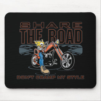 Share the Road Motorcycle Mouse Pad
