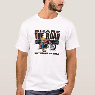 Share the Road Motorcycle T-Shirt